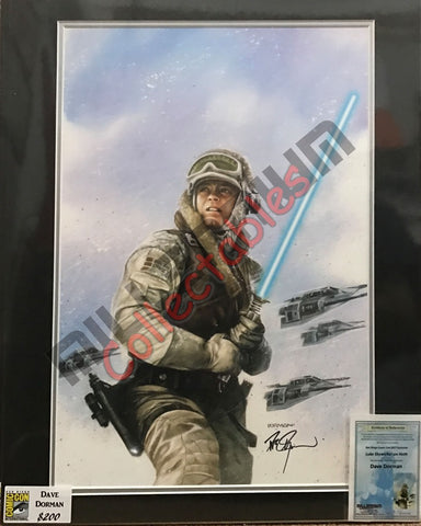 Artist Autographed Print - Dave Dorman - Luke Skywalker on Hoth