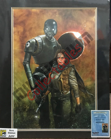 Artist Autographed Print - Dave Dorman - Jyn Erso & K-2SO