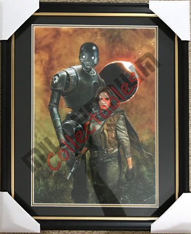 SDCC 2017 Autographed Dave Dorman Print - Jyn Erso & K-2SO