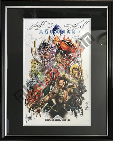 SDCC 2018 Exclusive Autographed Poster - Aquaman