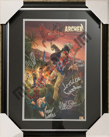 SDCC 2018 Exclusive Autographed Poster - Archer - Danger Island