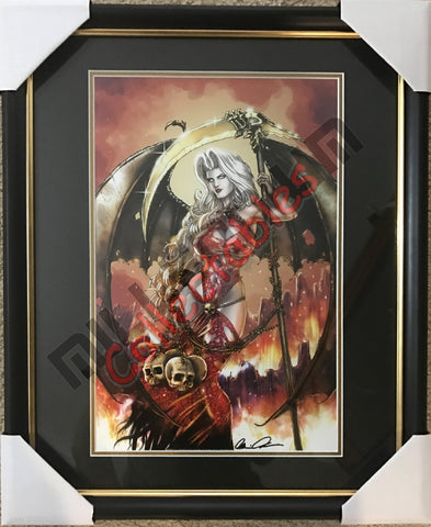 Artist Autographed Print - Brian Pulido - Lady Death - Reaper