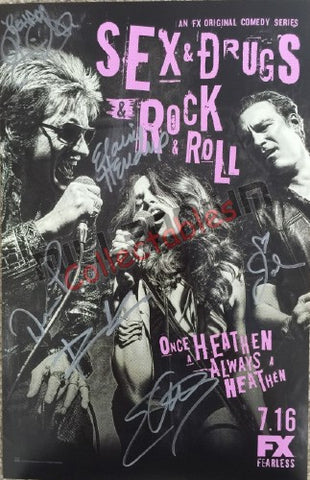 SDCC 2015 Exclusive Autographed Poster - Sex & Drugs & Rock & Roll Cast Signing #1/2