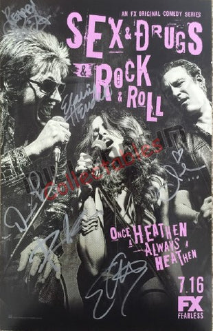 SDCC 2015 Exclusive Autographed Poster - Sex & Drugs & Rock & Roll Cast Signing #2/2