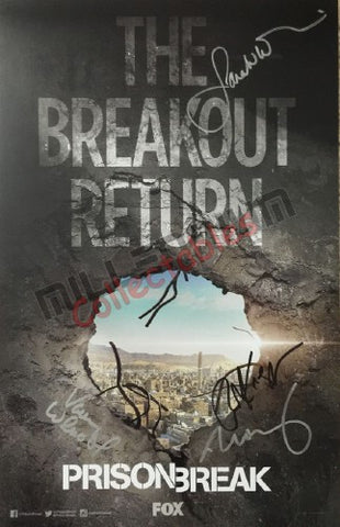 SDCC 2016 Exclusive Autographed Poster - Prison Break Returns Cast