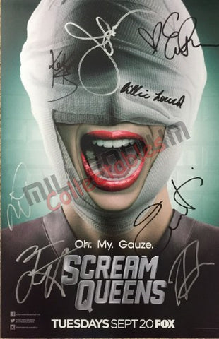 SDCC 2016 Exclusive Autographed Poster - Scream Queens Cast Signing #1/2