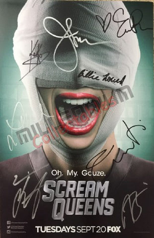 SDCC 2016 Exclusive Autographed Poster - Scream Queens Cast
