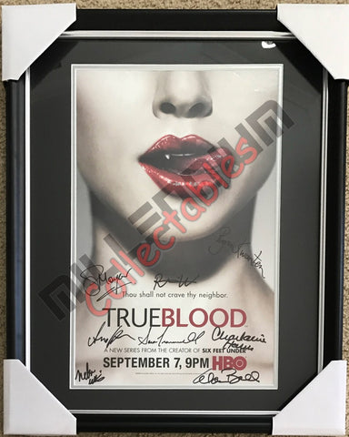 SDCC 2008 Exclusive Autographed Poster - True Blood