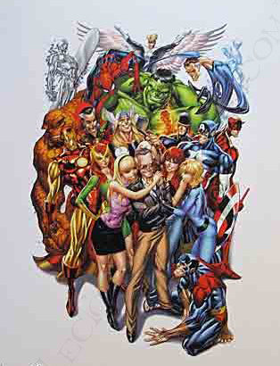 Stan Lee - Marvel Hero - J. Scott Campbell Print