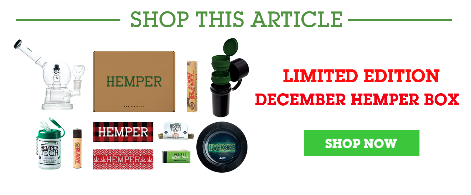 December HEMPER box Shop Now