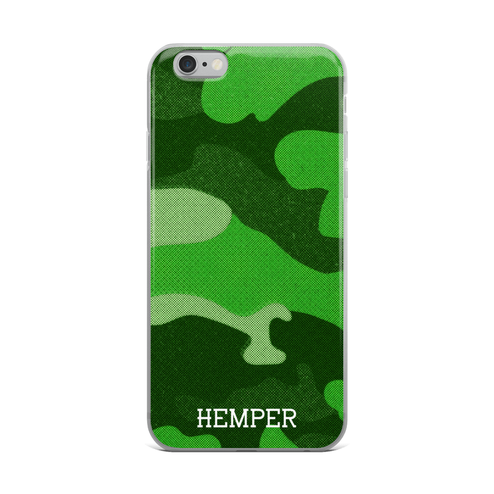 HEMPER Green Camo iPhone Case