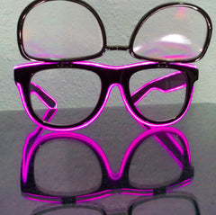 GloFX Black Ultimate-Flip Diffraction Glasses with PINK Luminescence