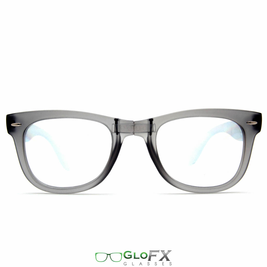 GloFX Foldable Diffraction Glasses Charcoal