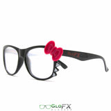 GloFX Women's Kitty Black Diffraction Glasses