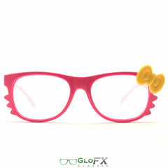 GloFX Women's Kitty Pink Diffraction Glasses