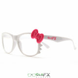 GloFX Women's Kitty White Diffraction Glasses