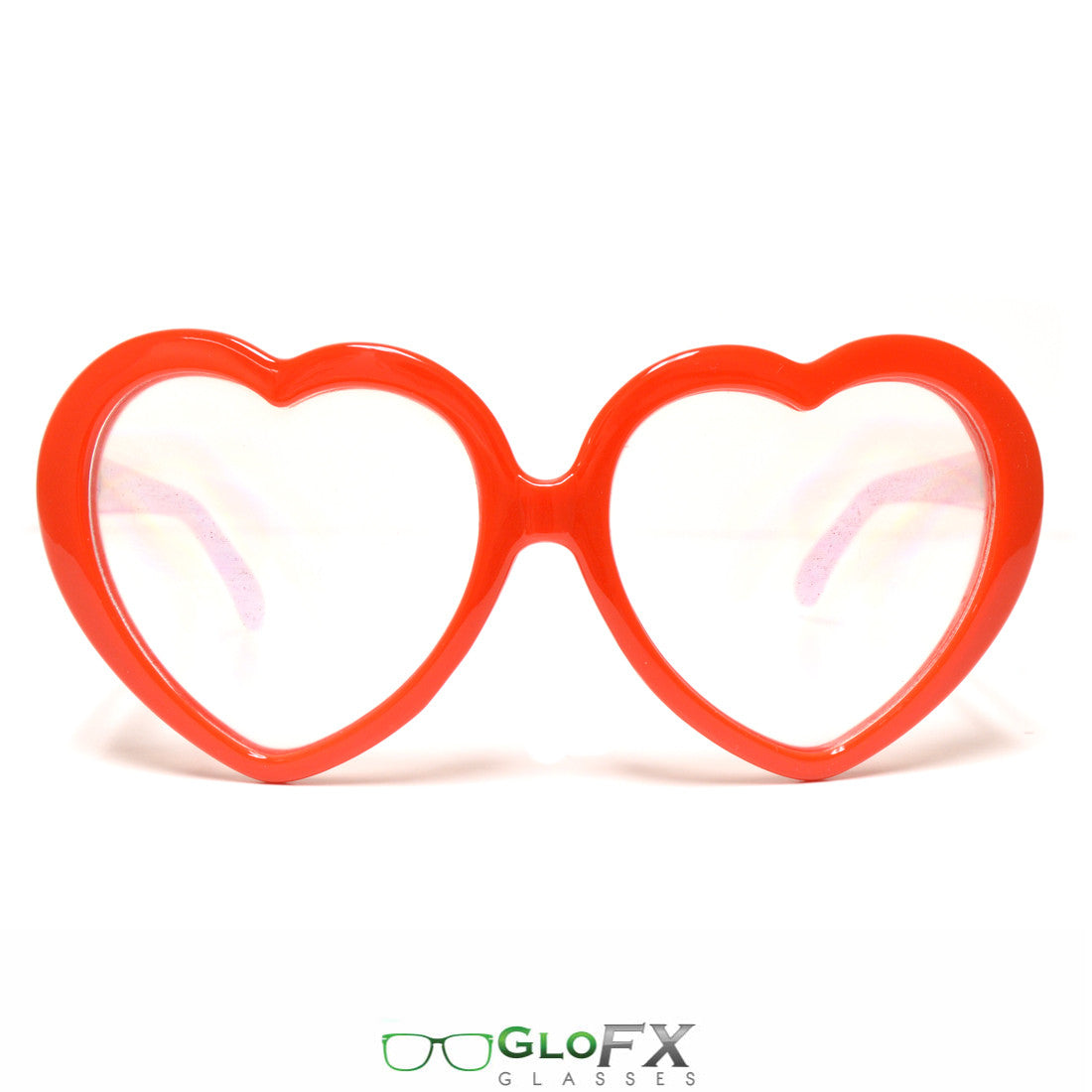 GloFX Women's Heart-Shaped Red Diffraction Glasses
