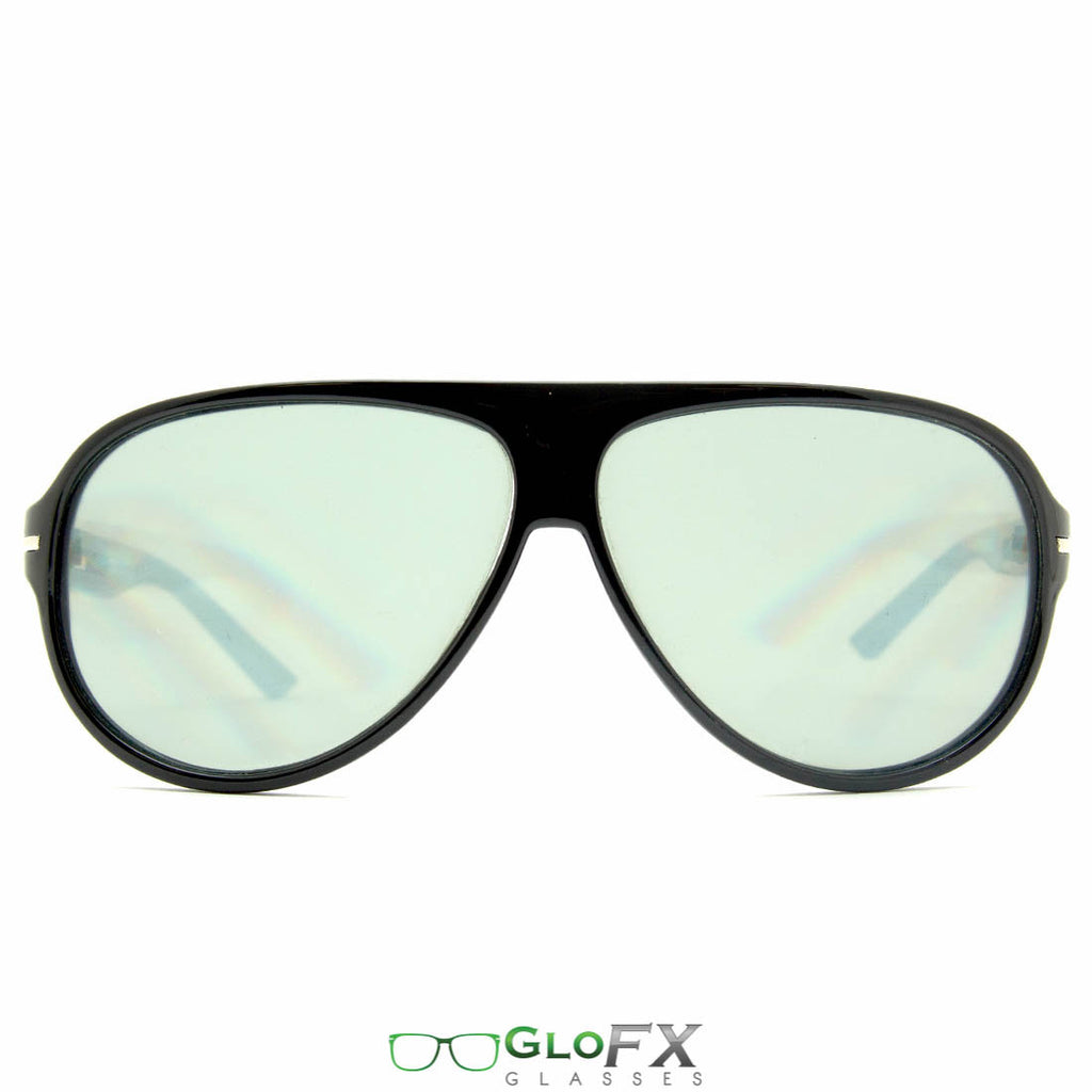GloFX Aviator Diffraction Glasses - Lightly Tinted
