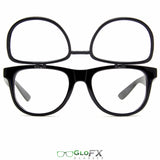 GloFX Ultimate FLIP Diffraction Glasses - Black