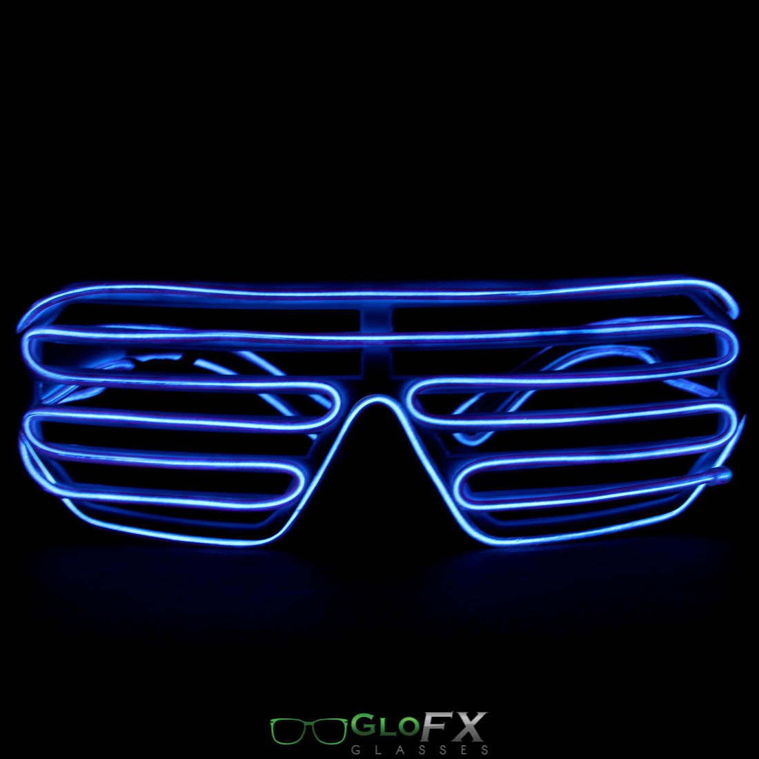 GloFX Luminescence Shutter Frames- White w/ Purple