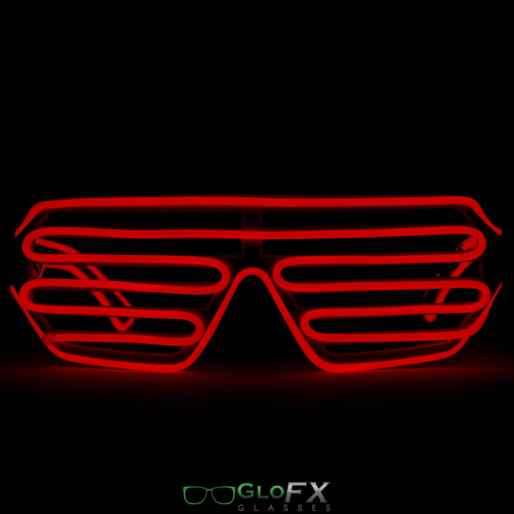 GloFX Luminescence Shutter Frames- White w/ Red