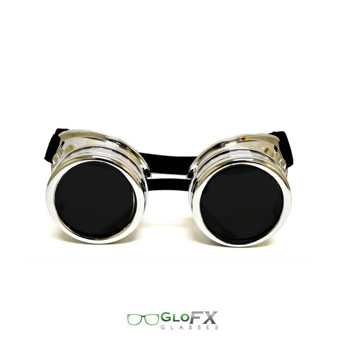 Chrome (Non-Diffraction) Goggles - Dark Tinted Glass Lense