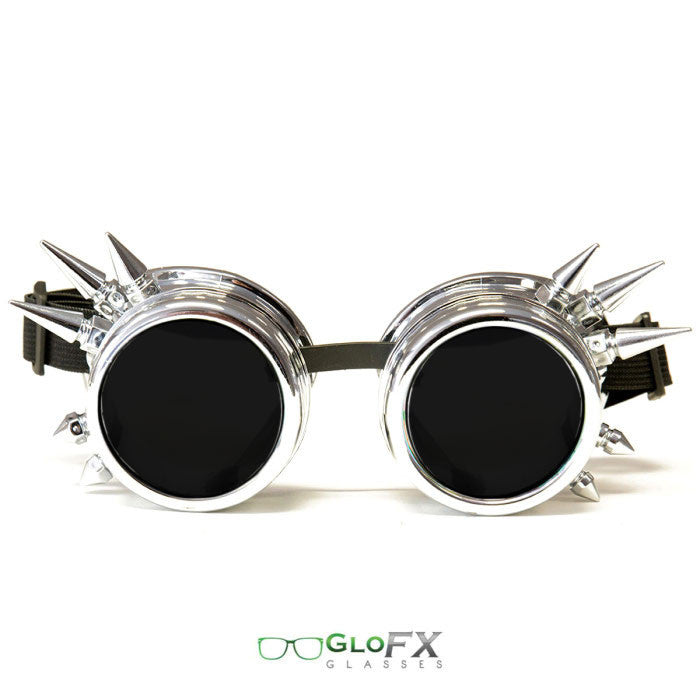 Chrome (Non-Diffraction) Goggles - Tinted and with SPIKES