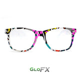 Neon Retro Diffraction Glasses