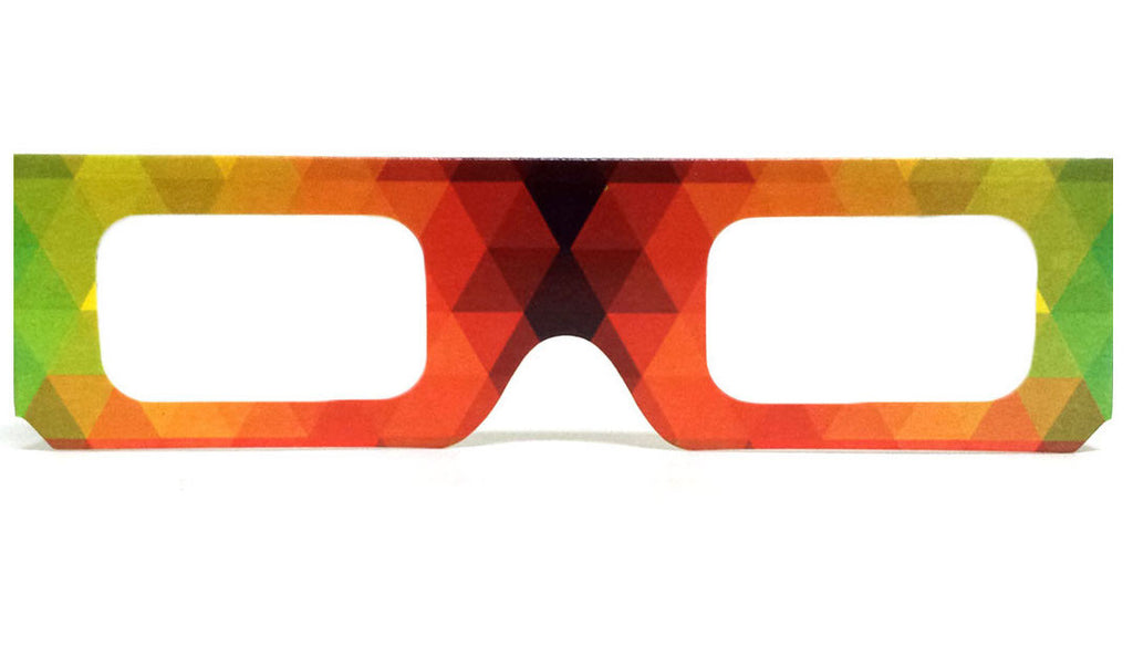 Paper Cardboard Diffraction Glasses - Single