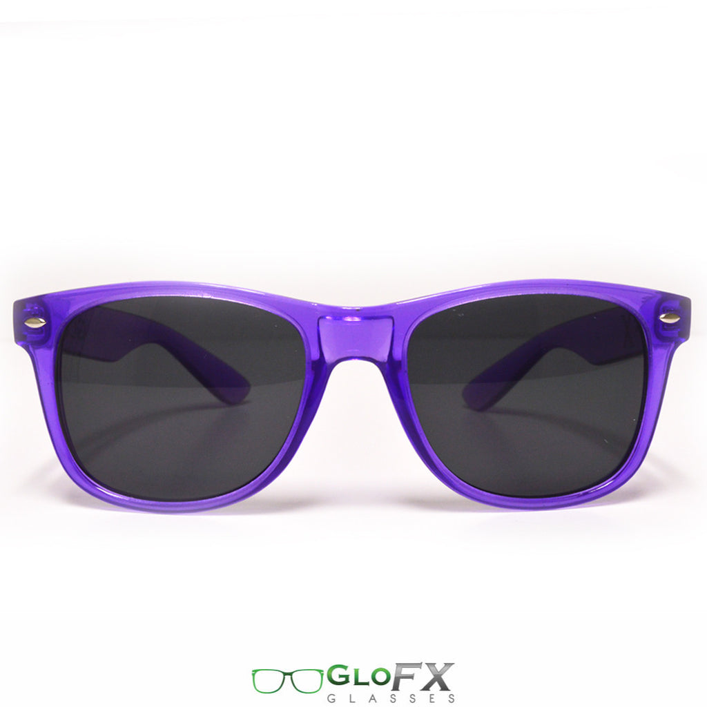 GloFX Regular Sunglasses - Transparent Purple