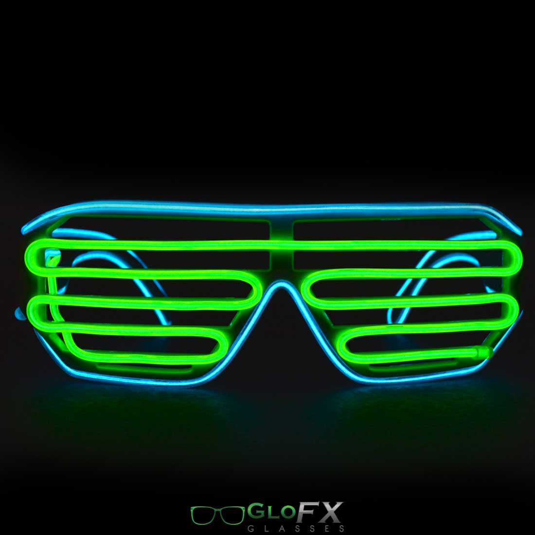 GloFX Luminescence Shutter Frames- Cyan and Green