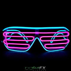 GloFX Luminescence Shutter Frames- Cyan and Pink