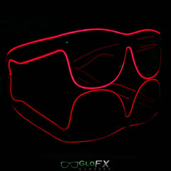 Luminescence Sunglasses (Red or Blue)