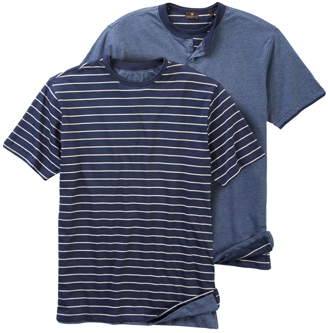 Solid & Stripes Reversible Hen-Tee