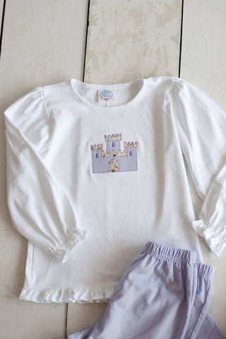 Girls Castle Applique Tee