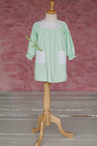 Ruth Float Dress in Seafoam Pique