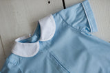 Jacob Top in Baby Blue Dot