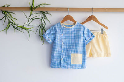 Boy Plain Short in Yellow Chambray (#26)