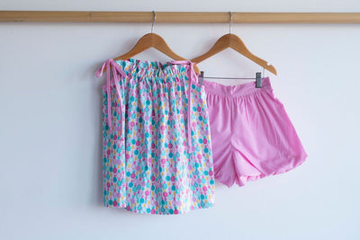 Bubble Short in Hot Pink Gingham (#9), Lined