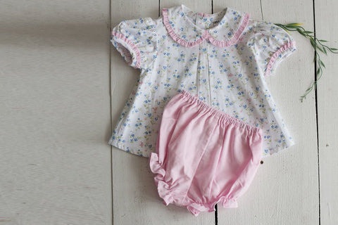 Girl Short Bloomer in Pink Cord