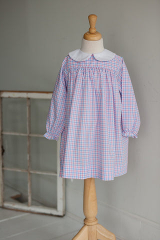Sally Dress in Pastel Pink Plaid