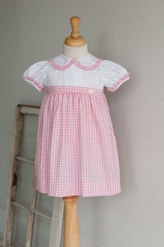 Avery Dress in Pink Check