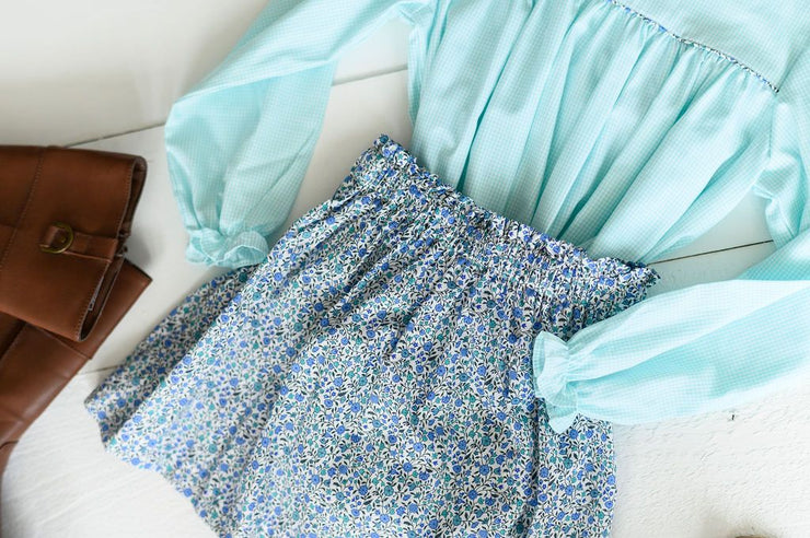 Annie Skirt in Blue Liberty