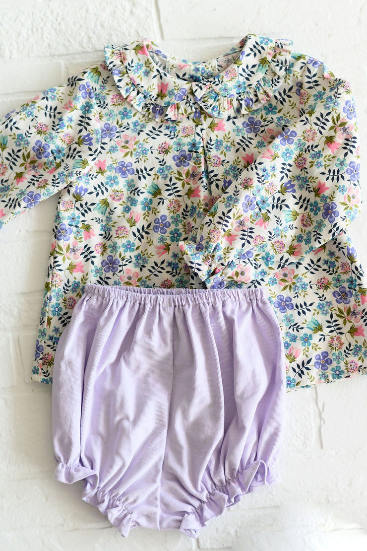 Girl Bloomer in Lilac Cord