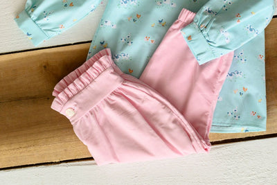 Connie Pant in Pink Corduroy