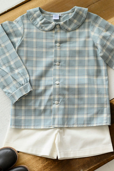 Cooper Top in Frost Plaid