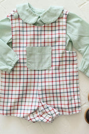 Pocket Jon Jon in Aspen Plaid and Sage Gingham, Lined