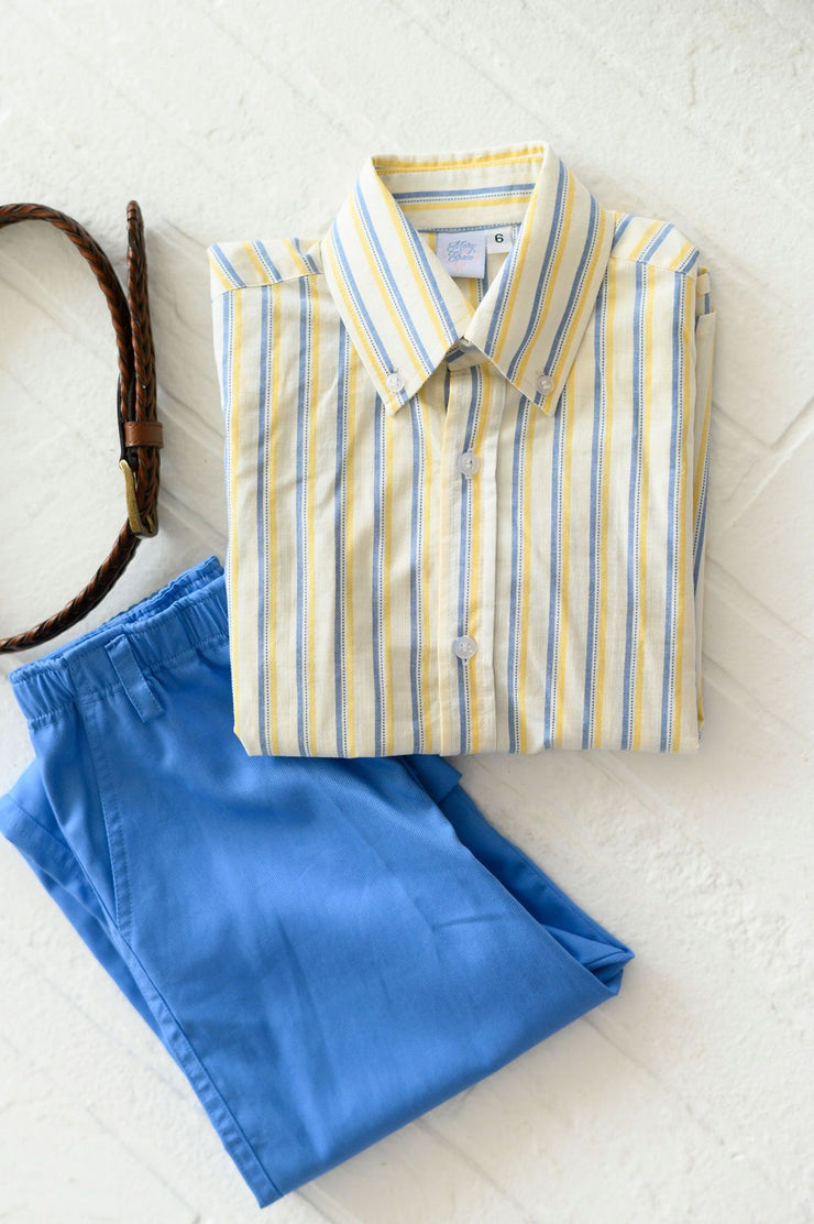 Boy Button Down in Sumter Stripe