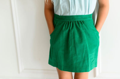 Eliza Skirt in Kelly Corduroy