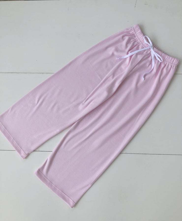 Girl Pima Play Pant with Drawstring in Pink